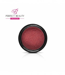 Glittery dust holographic dark red