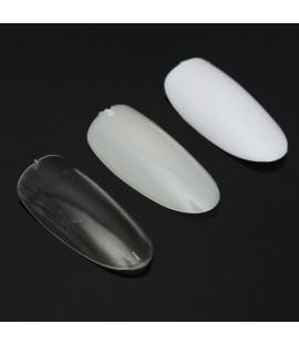 White plastic nail art tip size 0 -100pcs